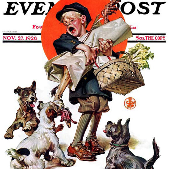 JC Leyendecker Saturday Evening Post Raid 1926_11_27 Copyright crop | Best of Vintage Cover Art 1900-1970