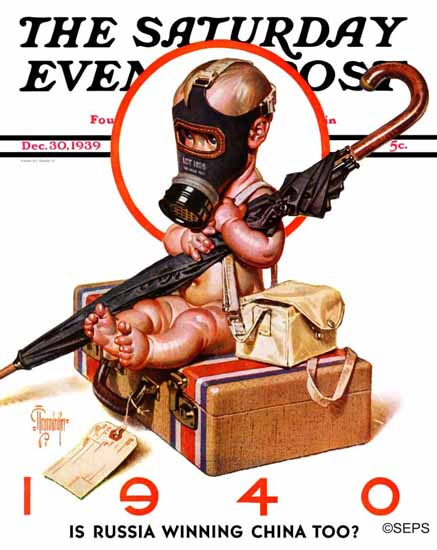 JC Leyendecker Saturday Evening Post Ready For War 1939_12_30   The Saturday Evening Post Graphic Art Covers 1931-1969