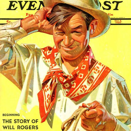 JC Leyendecker Saturday Evening Post Rogers 1940_10_05 Copyright crop | Best of Vintage Cover Art 1900-1970
