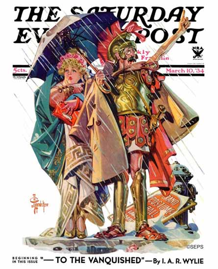 JC Leyendecker Saturday Evening Post Roman Costumes 1934_03_10   The Saturday Evening Post Graphic Art Covers 1931-1969