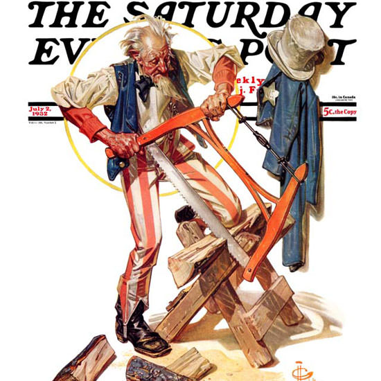 JC Leyendecker Saturday Evening Post Sam 1932_07_02 Copyright crop | Best of 1930s Ad and Cover Art