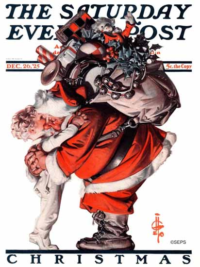 JC Leyendecker Saturday Evening Post Santa Claus 1925_12_26 | The Saturday Evening Post Graphic Art Covers 1892-1930