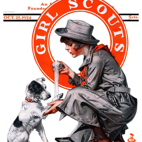 JC Leyendecker Saturday Evening Post Scouts 1924_10_25 Copyright crop | Best of Vintage Cover Art 1900-1970