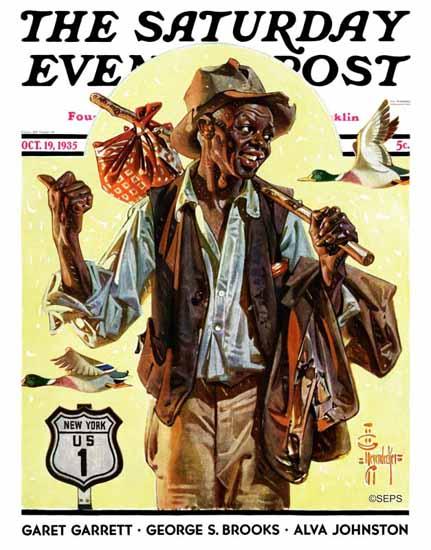JC Leyendecker Saturday Evening Post Southbound Hitchhiker 1935_10_19   The Saturday Evening Post Graphic Art Covers 1931-1969