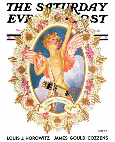 JC Leyendecker Saturday Evening Post St Valentine 1936_02_15   The Saturday Evening Post Graphic Art Covers 1931-1969