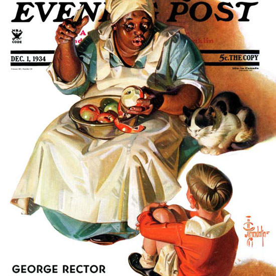 JC Leyendecker Saturday Evening Post Story 1934_12_01 Copyright crop | Best of 1930s Ad and Cover Art
