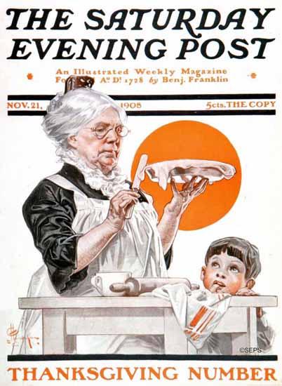 JC Leyendecker Saturday Evening Post Thanksgiving 1908_11_21   The Saturday Evening Post Graphic Art Covers 1892-1930