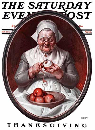 JC Leyendecker Saturday Evening Post Thanksgiving 1925_11_28 | The Saturday Evening Post Graphic Art Covers 1892-1930