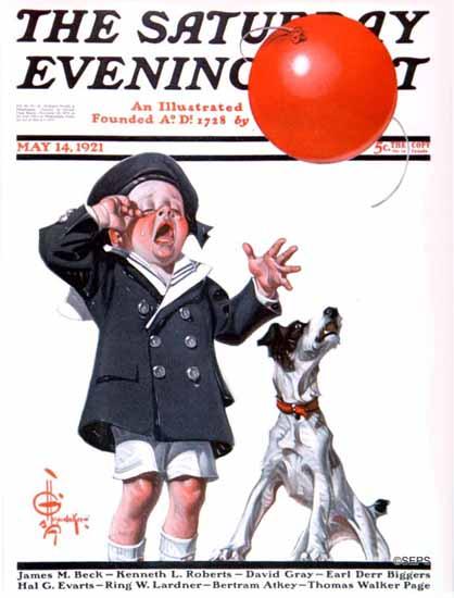 JC Leyendecker Saturday Evening Post The Balloon 1921_05_14 | The Saturday Evening Post Graphic Art Covers 1892-1930