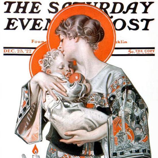 JC Leyendecker Saturday Evening Post Xmas 1922_12_23 Copyright crop | Best of Vintage Cover Art 1900-1970