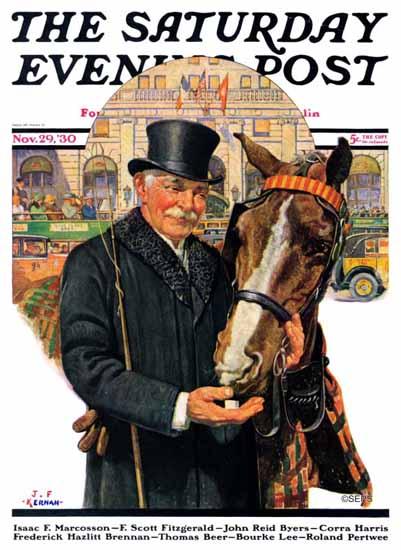 JF Kernan Cover Artist Saturday Evening Post 1930_11_29 | The Saturday Evening Post Graphic Art Covers 1892-1930