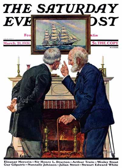 JF Kernan Saturday Evening Post Old Salts 1931_03_21 | The Saturday Evening Post Graphic Art Covers 1931-1969