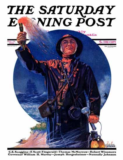 JF Kernan Saturday Evening Post Signaller 1931_12_19   The Saturday Evening Post Graphic Art Covers 1931-1969