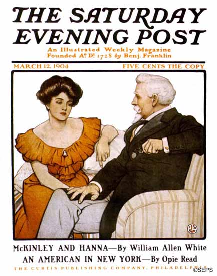 JJ Gould Artist Saturday Evening Post 1904_03_12 | The Saturday Evening Post Graphic Art Covers 1892-1930