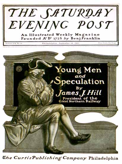 JJ Gould Cover Artist Saturday Evening Post 1901_08_10 | The Saturday Evening Post Graphic Art Covers 1892-1930