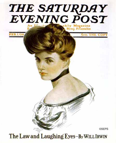 JJ Gould Cover Artist Saturday Evening Post 1908_02_01 | The Saturday Evening Post Graphic Art Covers 1892-1930