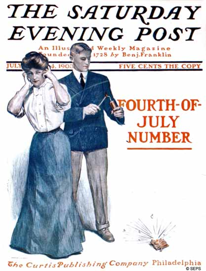 JJ Gould Cover Artist Saturday Evening Post July 4th 1903_07_04 | The Saturday Evening Post Graphic Art Covers 1892-1930