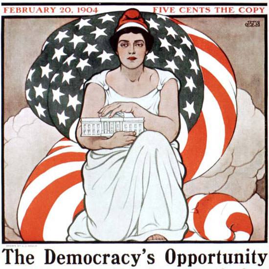 JJ Gould Saturday Evening Post Opportunity 1904_02_20 Copyright crop   Best of Vintage Cover Art 1900-1970