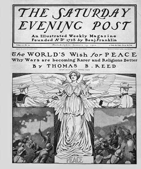 JJ Gould Saturday Evening Post Wish for Peace 1900_01_13 | The Saturday Evening Post Graphic Art Covers 1892-1930