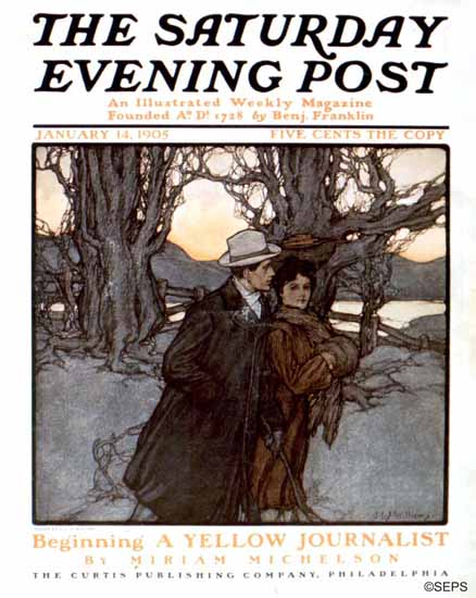 JLS Williams Saturday Evening Post Cover Art 1905_01_14   The Saturday Evening Post Graphic Art Covers 1892-1930