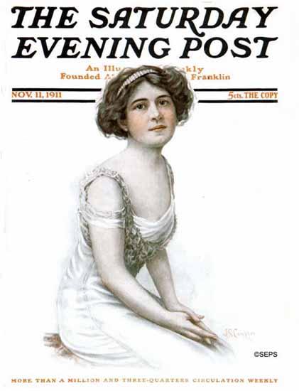 JS Campton Saturday Evening Post Cover Art 1911_11_11 | The Saturday Evening Post Graphic Art Covers 1892-1930