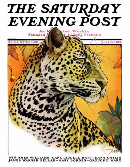 Jack Murray Saturday Evening Post Leopard 1931_08_29 | The Saturday Evening Post Graphic Art Covers 1931-1969