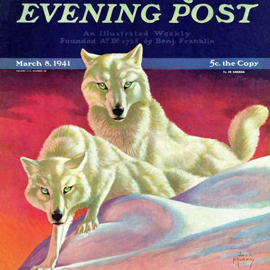 Jack Murray Saturday Evening Post Wolves 1941_03_08 Copyright crop | Best of Vintage Cover Art 1900-1970