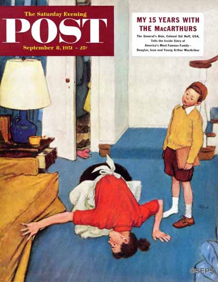 Jack Welch Saturday Evening Post Missing Shoe 1951_09_08 | The Saturday Evening Post Graphic Art Covers 1931-1969