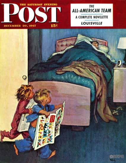 Jack Welch Saturday Evening Post Sunday Funnies 1947_12_20 | The Saturday Evening Post Graphic Art Covers 1931-1969