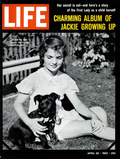Jackie Kennedy Bouvier growing up 26 Apr 1963 Copyright Life Magazine | Life Magazine BW Photo Covers 1936-1970