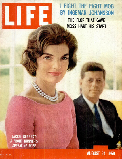Jackie Kennedy Frontrunners Wife 24 Aug 1959 Copyright Life Magazine | Life Magazine Color Photo Covers 1937-1970