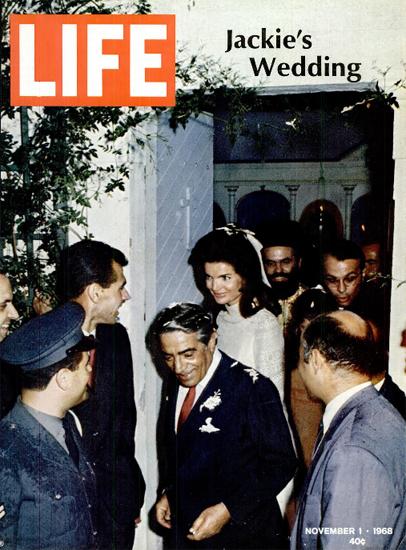 Jackie Kennedy and Aristotle Onassis 1 Nov 1968 Copyright Life Magazine | Life Magazine Color Photo Covers 1937-1970