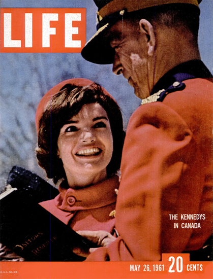 Jackie Kennedy in Canada 26 May 1961 Copyright Life Magazine | Life Magazine Color Photo Covers 1937-1970