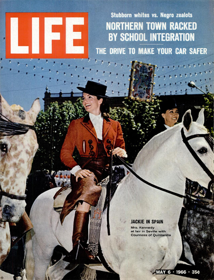 Jackie Kennedy in Seville Spain 6 May 1966 Copyright Life Magazine   Life Magazine Color Photo Covers 1937-1970