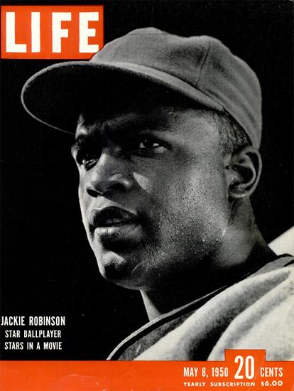 Jackie Robinson Baseball 8 May 1950 Copyright Life Magazine | Life Magazine BW Photo Covers 1936-1970
