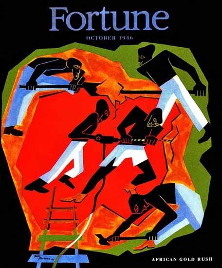Jacob Lawrence Fortune Magazine October 1946 Copyright | Fortune Magazine Graphic Art Covers 1930-1959