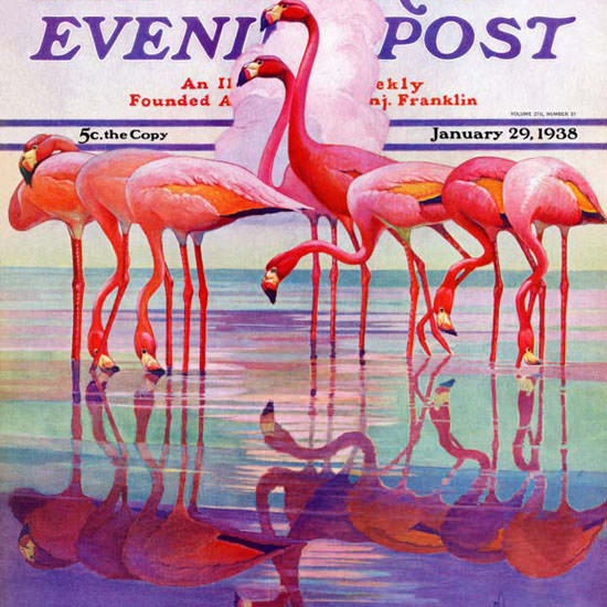Jacques Lowe The Saturday Evening Post Pink 1938_01_29 Copyright crop | Best of 1930s Ad and Cover Art