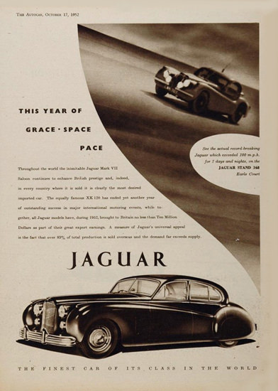 Jaguar 1952 Mark VII Grace Space Pace | Vintage Cars 1891-1970