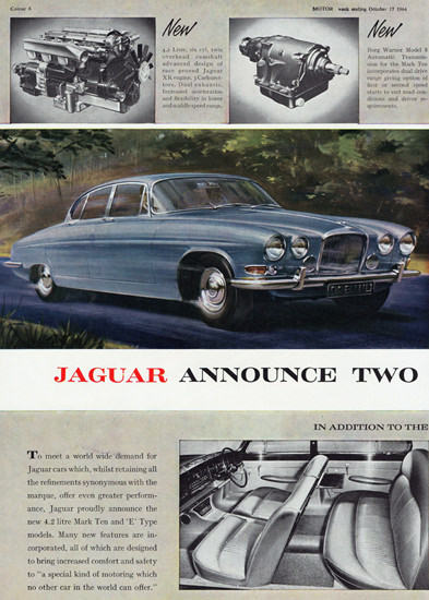Jaguar Mark Ten E Type 1965 | Vintage Cars 1891-1970