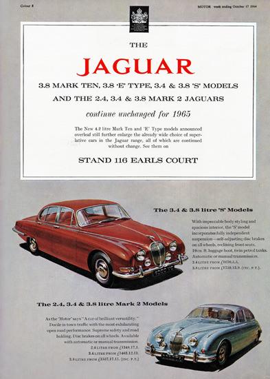 Jaguar Mark Ten E Type S Mark 2 1965 | Vintage Cars 1891-1970