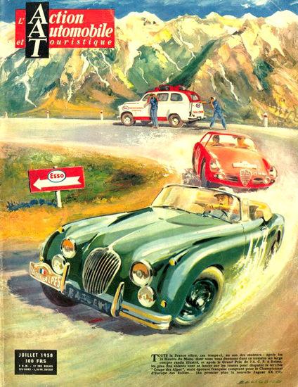 Jaguar XK 150 Coupe Des Alpes Esso 1958 | Vintage Cars 1891-1970