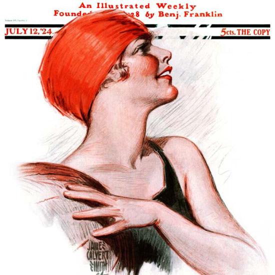 James Calvert Smith Saturday Evening Post 1924_07_12 Copyright crop | Best of Vintage Cover Art 1900-1970