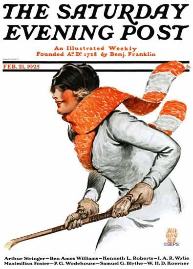 James Calvert Smith Saturday Evening Post 1925_02_21 | The Saturday Evening Post Graphic Art Covers 1892-1930