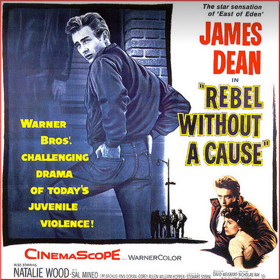 James Dean Rebel Without A Cause Movie 1956 | Sex Appeal Vintage Ads and Covers 1891-1970