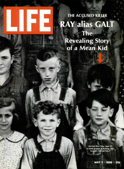 James Earl Ray Murder or Conspiracy 3 May 1968 Copyright Life Magazine | Life Magazine BW Photo Covers 1936-1970