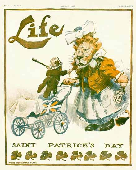 James Montgomery Flagg Life Humor Magazine 1907-03-07 Copyright | Life Magazine Graphic Art Covers 1891-1936