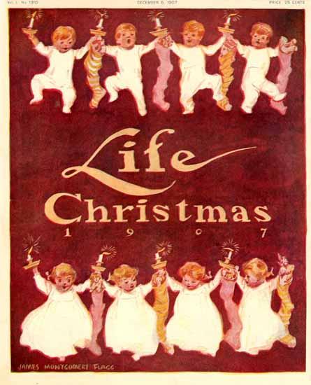 James Montgomery Flagg Life Humor Magazine 1907-12-05 Copyright | Life Magazine Graphic Art Covers 1891-1936