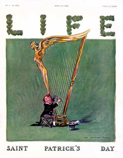 James Montgomery Flagg Life Humor Magazine 1908-03-19 Copyright | Life Magazine Graphic Art Covers 1891-1936