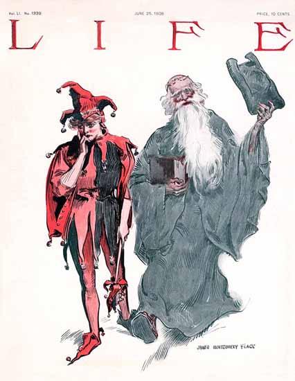 James Montgomery Flagg Life Humor Magazine 1908-06-25 Copyright | Life Magazine Graphic Art Covers 1891-1936