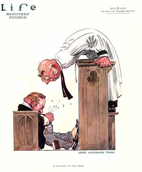 James Montgomery Flagg Life Humor Magazine 1912-09-26 Copyright | Life Magazine Graphic Art Covers 1891-1936